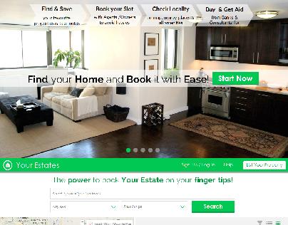 Real Estate Website MockUp