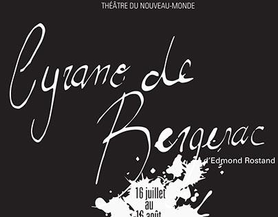 Affiche de théâtre et jacquette de roman