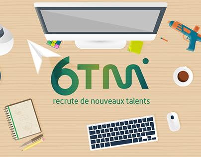 6TM - Illustrations recrutement pour réseaux sociaux