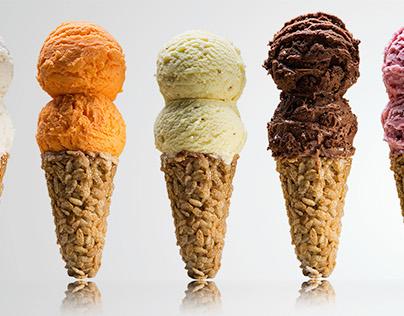 Rice krispie Ice Cream