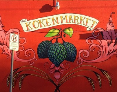 Mural for the Koken Market in Portland, OR