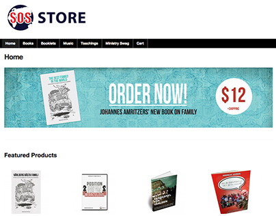 Mission SOS Store Website 2013