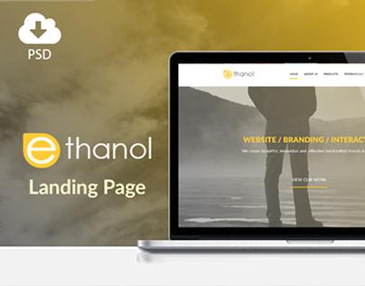 ethanol - free psd template