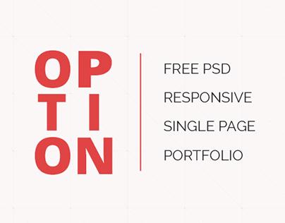 OPTION - Free PSD Web Design