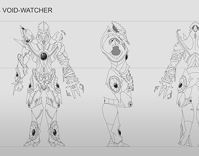 Protoss Void-Watcher Orthographic
