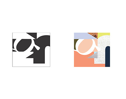 Figure/Ground Letterforms in a Square
