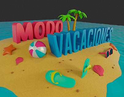 Modo Vacaciones 3D