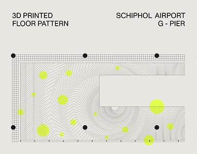 3D Printed Floor Pattern Schiphol Airport / G-Pier