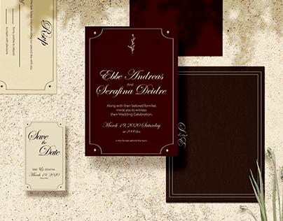 Dark Academia Wedding Invitation Suite - Concept