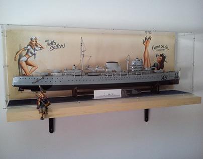 "Model of ""Battleship Canarias"""