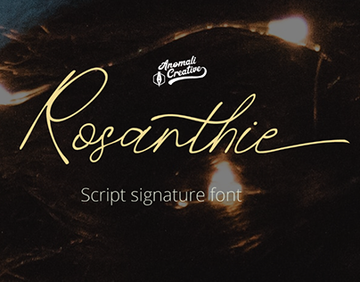 ROSANTHIE - FREE SIGNATURE SCRIPT FONT