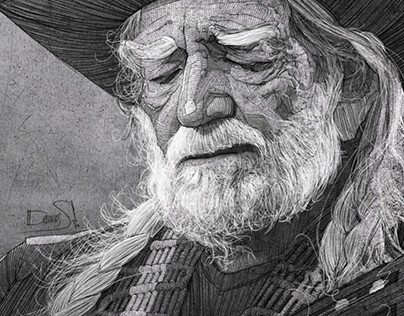 Willie Nelson illustration for the Washington Post