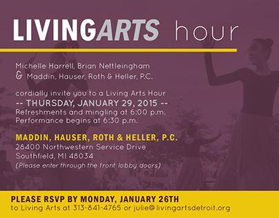 Living Arts Hour Invitation