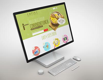 Empire Kitchen Website Mockup