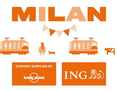 Milan Map for Schiphol Amsterdam Airport / ING direct
