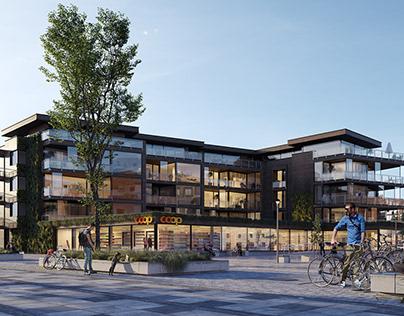 CGI: Residential building in Visp, Switzerland
