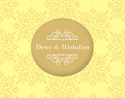 Wedding Invitation : Dewi & Wahdan