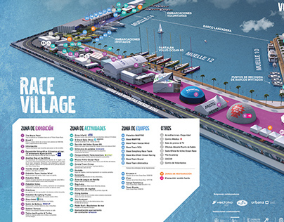 Volvo Ocean Race - 3D village maps