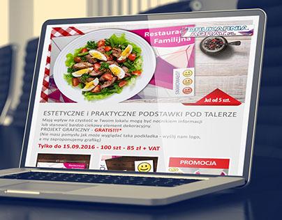 Newsletter with custom paper restaurant mats