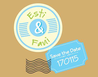 Wedding Invitation : Esti & Fani