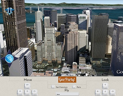 GeoParty - Gesture based 3D world exploration