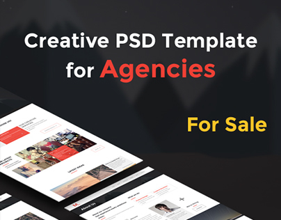 Creative PSD Template For Sale