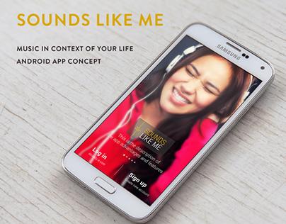 Sounds Like Me App (Concept)
