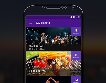 Android Tickets app