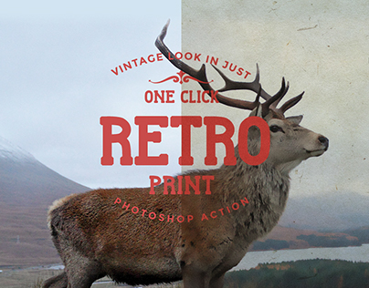Retro Print Photoshop Action Freebie