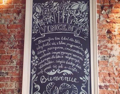 Chalk board / Vincent Cafe