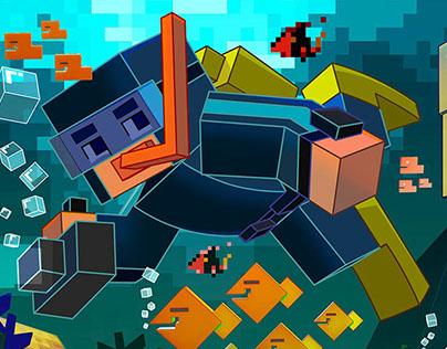 Pixel - Mergulhador