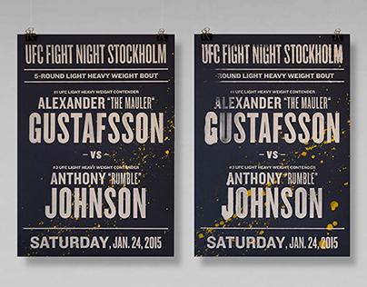 Screenprinted UFC FIGHT NIGHT prints