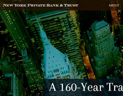 New York Private Bank & Trust - Mockup/Prototype