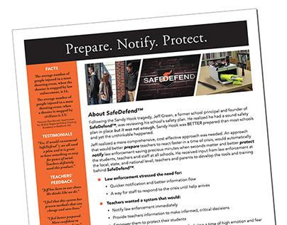 SafeDefend LLC Company Flyer