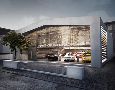 Car showroom hangar