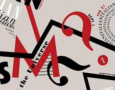 Guggenheim Futurism Exhibiton & Private Events Posters