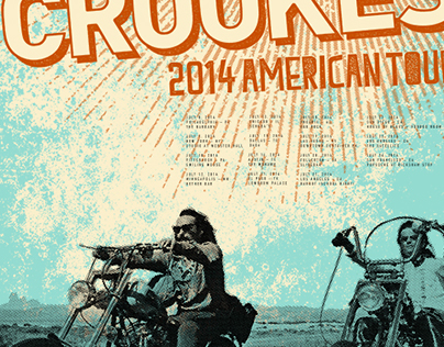 The Crookes 2014 Tour Poster