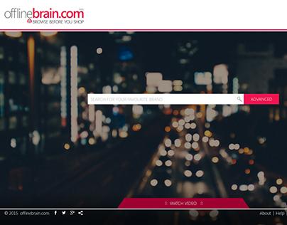 www.offlinebrain.com - UI design