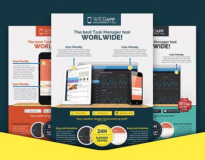 Web App Tech & Hosting Business Flyer