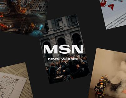 MSN - News website redesign 2021