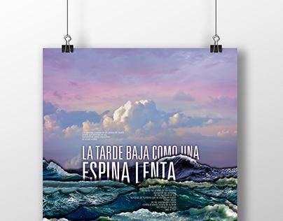 """Afiche de un Poema (""""Marina"""")"""