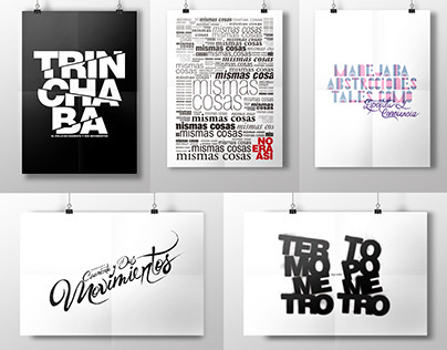Afiches Tipográficos / Typo Poster