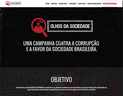 Website Olhos da Sociedade