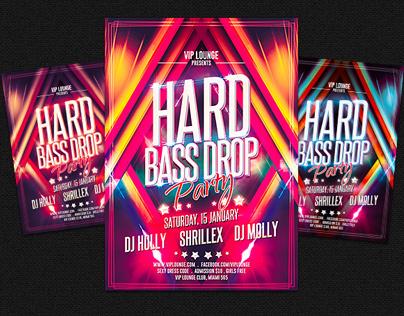 Hard Bass Drop Party Flyer