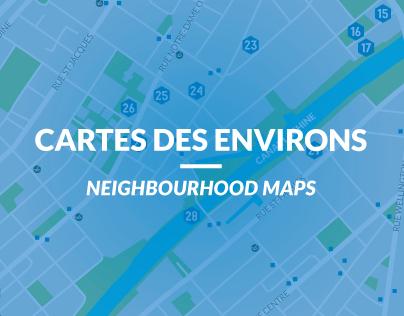 Cartes des environs / Neighbourhood Maps
