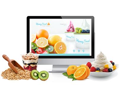 Honey Treat Yogurt Website Design