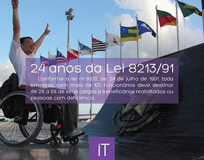 Anúncio   24 anos lei da inclusão - iT