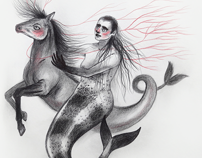 Drawlloween - Siren with Kelpie