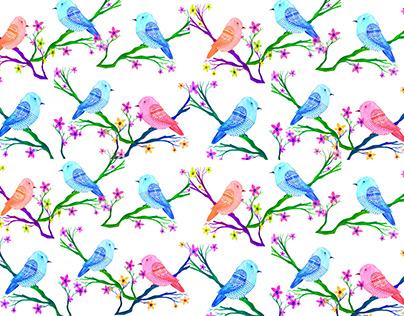 Bird watercolor Wallpaper
