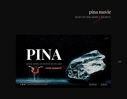 pina movie_desktop and mobile website
